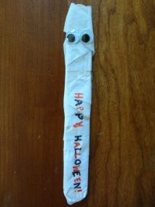 Thursday, October 23, 2014. Mummy Bookmarks!