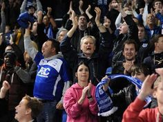 Blues fans at Brighton & Hove Albion. September 2012.