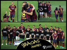 Agraïment d'Anna Vives a Andrés Iniesta i la resta de jugadors del FC Barcelona