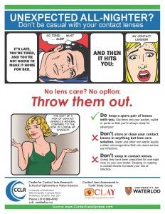Patient handout: Don't be casual with your contact lenses.