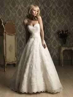 Lace Sweetheart Ball Gown Sleeveless Wedding Dress