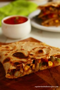 vegetable quesadilla recipe, healthy vegetarian mexican quesadilla can be made for breakfast, dinner or as a snack. It is very easy to prepare