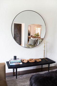 modern circle mirror