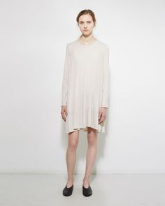 // Raquel Allegra | Jersey Bell Dress | La Garçonne