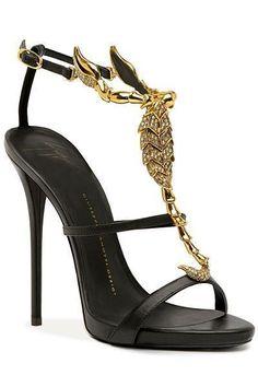0ce3ac5635dbb Giuseppe Zanotti Scorpio Gold Glittering Sandal Spring-Summer 2014  Shoes   Heels  Zanottis