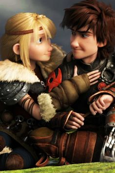 I Seriously love hiccup  and astrid. I love the way he looks at her, you can tell he really appreciates her response and encouragement. <3