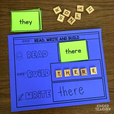 Differentiated Sight Word Activities – A Kinderteacher Life Sight word activity – read, build and write sight words Teaching Sight Words, Sight Words List, Sight Word Practice, Sight Word Games, Sight Word Activities, Phonics Activities, Leadership Activities, Group Activities, Teaching Resources