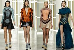 Looks from the Rodarte spring - summer 2013 collection shown during New York Fashion Week. #NYFW #Rodarte #SS2013