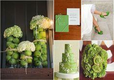 Verde mela per un matrimonio vivace