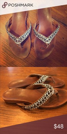 Zigi NY Tan thing sandals with chain and rhinestone detail. Super cute, very good condition. zigi ny Shoes Sandals
