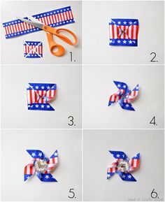 Learn how to make a Patriotic Pinwheel Pin by @Mad in Crafts