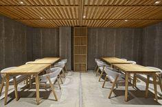spanish creative consultancy masquespacio has realized branding and interior design of 'nozomi sushi bar' in valencia, spain.