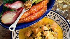 Alkuperäisreseptissä keitetään kalan pää, selkäruoto jne. ja otetaan lihahippuset talteen keittoon. Nykyään teemme sopan lohifileestä.