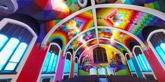 Church of Cannabis: Sanctuary Painted in Hypercolor by Okuda San... #weburbanist #arts #street_art