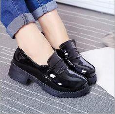 Japanese Womens Girl School Lolita Maid Uniform Shoes Sweet Casual Shoesnew