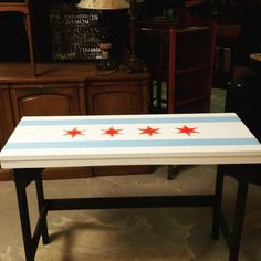 Chalk Paint Chicago Flag Table!