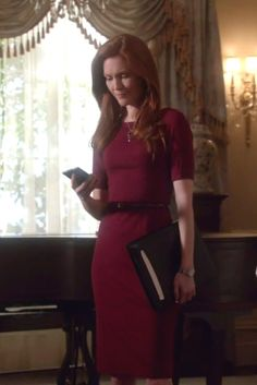 Abby Whelan wearing  Brooks Brothers Ponte Knit Dress