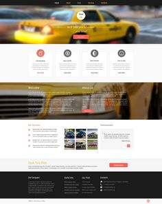 'Taxi Service' #webdesign for #Responsive Template http://zign.nl/51077