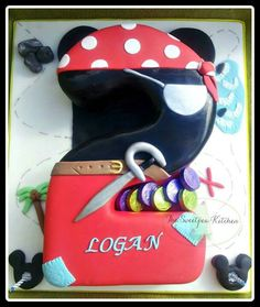 THIS ONE!!!Mickey mouse and pirate themed number cake. . www.facebook.com/thesweetpeakitchen