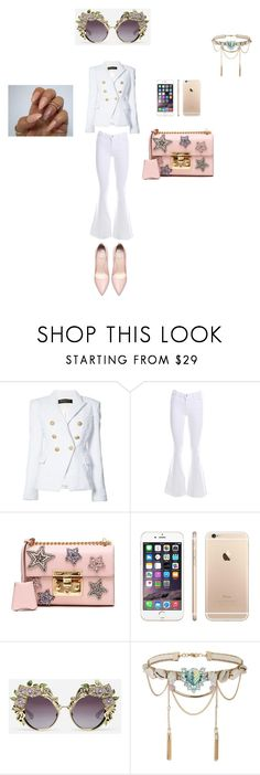 """""""women"""" by mawena-17 ❤ liked on Polyvore featuring Balmain, J Brand, Gucci, Dolce&Gabbana and Miss Selfridge"""