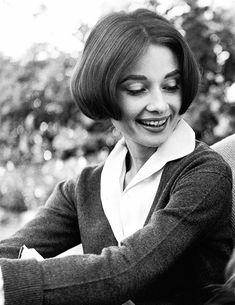 "deforest: "" Audrey Hepburn by Sid Avery, 1957 """