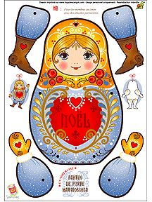 Free Printable Christmas Matryoshka Paper Doll-and a bunch of other doll things Paper Doll Template, Paper Dolls Printable, Paper Puppets, Paper Toys, Christmas Paper, Christmas Crafts, Papercraft Anime, Paper Art, Paper Crafts