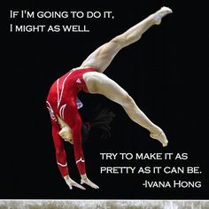 Oh, Ivana Hong. I remember when you were learning to do backhandsprings on the beam. Gymnastics Sayings, Women's Gymnastics, Amazing Gymnastics, Artistic Gymnastics, Chalk Talk, Female Gymnast, Mind Over Matter, Keep Calm And Love, Acro