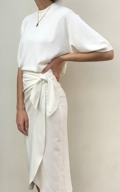 PRE-ORDER Na Nin Raw Silk Bobbie Wrap Skirt - Available in Multiple Colors
