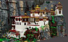 Bhutan's Tiger's Nest Monastery built from LEGO! http://www.greentea.tk/2014/06/bhutans-tigers-nest-monastery-built.html #Bhutan #Himalayas #Lego