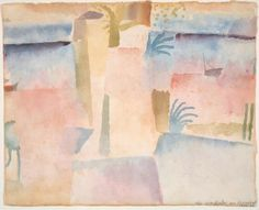 Paul Klee, View Towards the Port of Hammamet on ArtStack #paul-klee #art