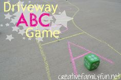 Driveway ABC Game ~ Creative Family Fun