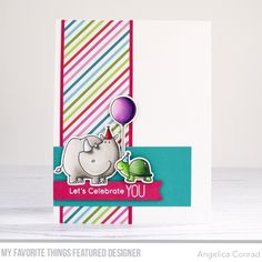 My Favorite Things Card Challenge 425 – My Love For Paper Pink Cards, Mft Stamps, Animal Cards, Card Maker, Card Sketches, Copics, Pattern Paper, Fun Projects, Making Ideas