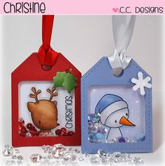 Handmade by Christine: Christmas Shaker Tags!