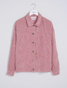 Women's Zori Corduroy Trucker Jacket - Pink | Native Youth