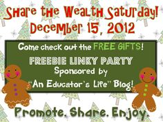 An Educator's Life: Share the Wealth- December 15, 2012