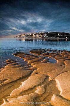 Foz do Arelho beach, Portugal  -  perto de Caldas da Rainha
