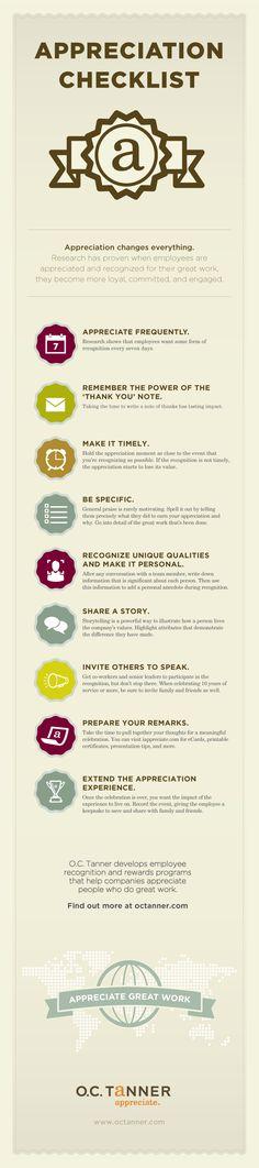 Employee Appreciation | Infographics #careers