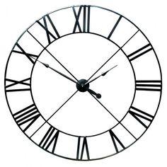Extra Large Black Metal Wall Clock Garden Furniture, Bedroom Furniture, Boutique Furniture from Optimal World