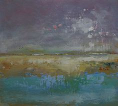 ARTFINDER: Foreshore fanfare by Barry Andrews - An abstract oil study celebrating the beautiful light found along the River Thames estuary. This piece is part of a series of art that is made in oil paint o...