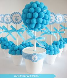 ideas para baby shower macetas dulces