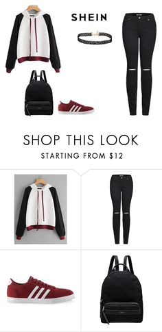 """SHEIN"" by leah-baritone ❤ liked on Polyvore featuring 2LUV, adidas, Radley, Miss Selfridge, outfit and shein"