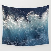 Wall Tapestries featuring Ocean Waves by SuzanneCarter