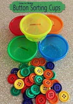Buttons and color sorting.