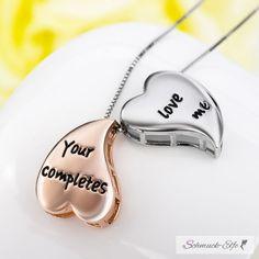 Partnerketten Herzen Your Love completes me aus 925 Silber mit Roseg