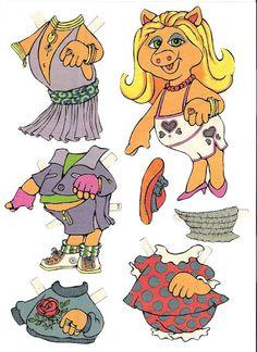 paper dolls 1 - Любовь - Picasa Webalbum Paper Toys, Paper Crafts, Les Muppets, History Of Paper, Disney Paper Dolls, Fraggle Rock, The Muppet Show, Muppet Babies, Paper Dolls Printable