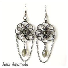 Juna Handmade: Orecchini helm chain flower