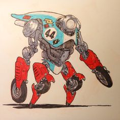 """DRONE RACERS!Number 44, winner of 5 Drone Racer cups.Number 39, set a Land Speed Record at last year's International Speed Trials.Number 8 has never won a Drone Race.Number 5 """"The Ghost."""" International Drone Street Racing champion.Number 3 """"The Red Devil"""" only Drone Racer to win all 7 internatio"""