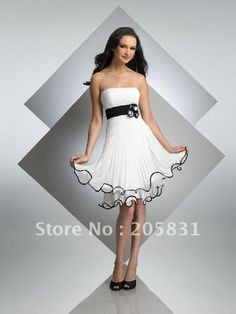2013 Fashion Strapless Knee length Cocktail Dresses Draped Open Back Fold Chiffon Gown OS11121-in Cocktail Dresses from Apparel & Accessories on Aliexpress.com