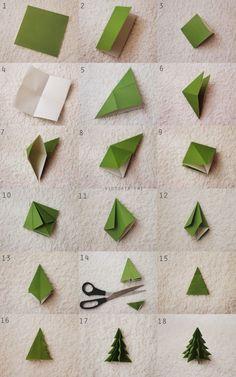 Paps e Moldes de Artesanato - Origami - Origami Diy, Paper Crafts Origami, Useful Origami, Paper Crafting, Craft Papers, Origami Christmas Tree, Wooden Christmas Trees, Christmas Crafts, Origami Butterfly