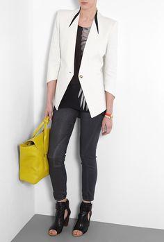 Helmut Lang Leather Insert Tux Jacket